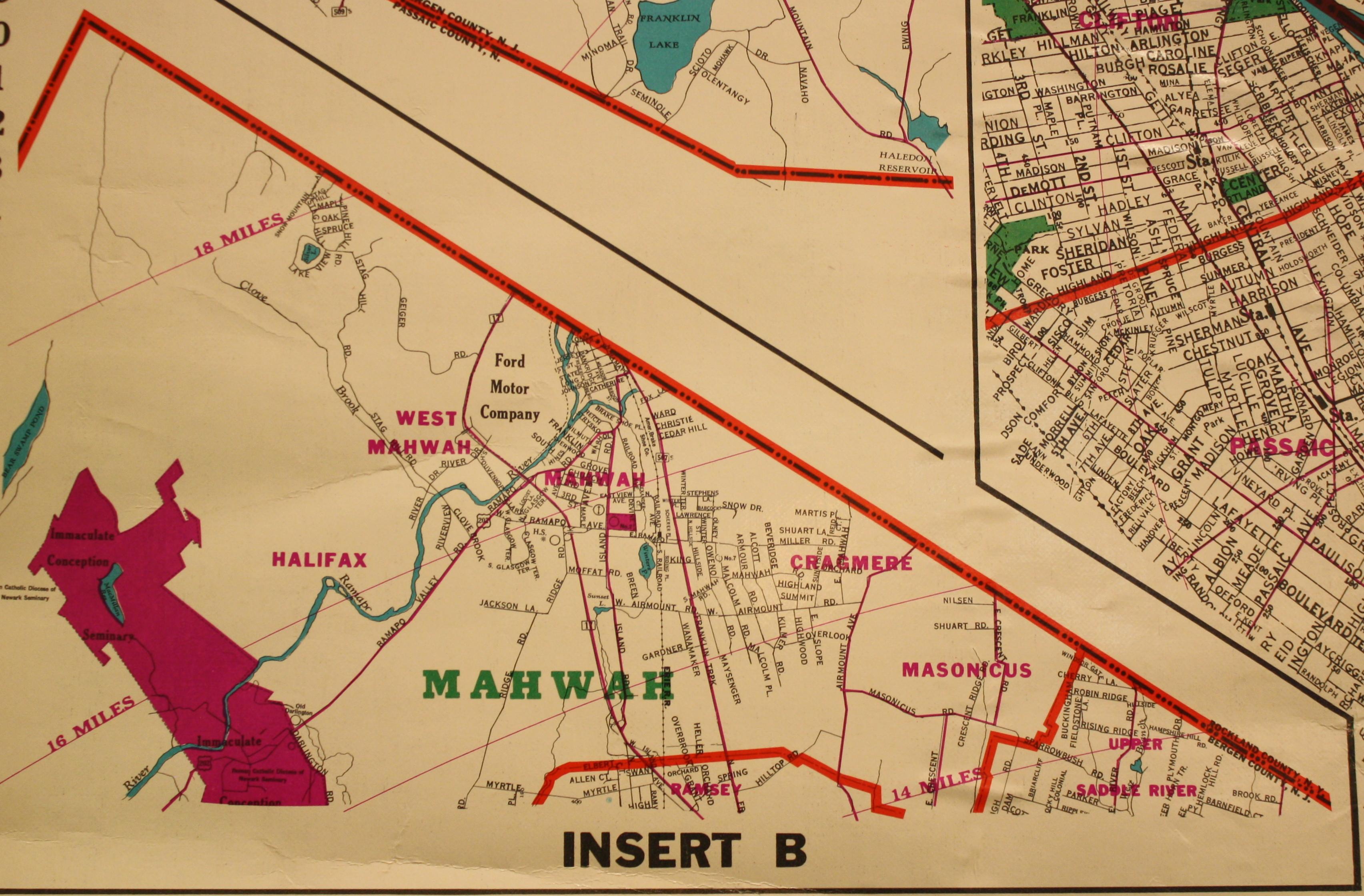 1960 Map of Mahwah
