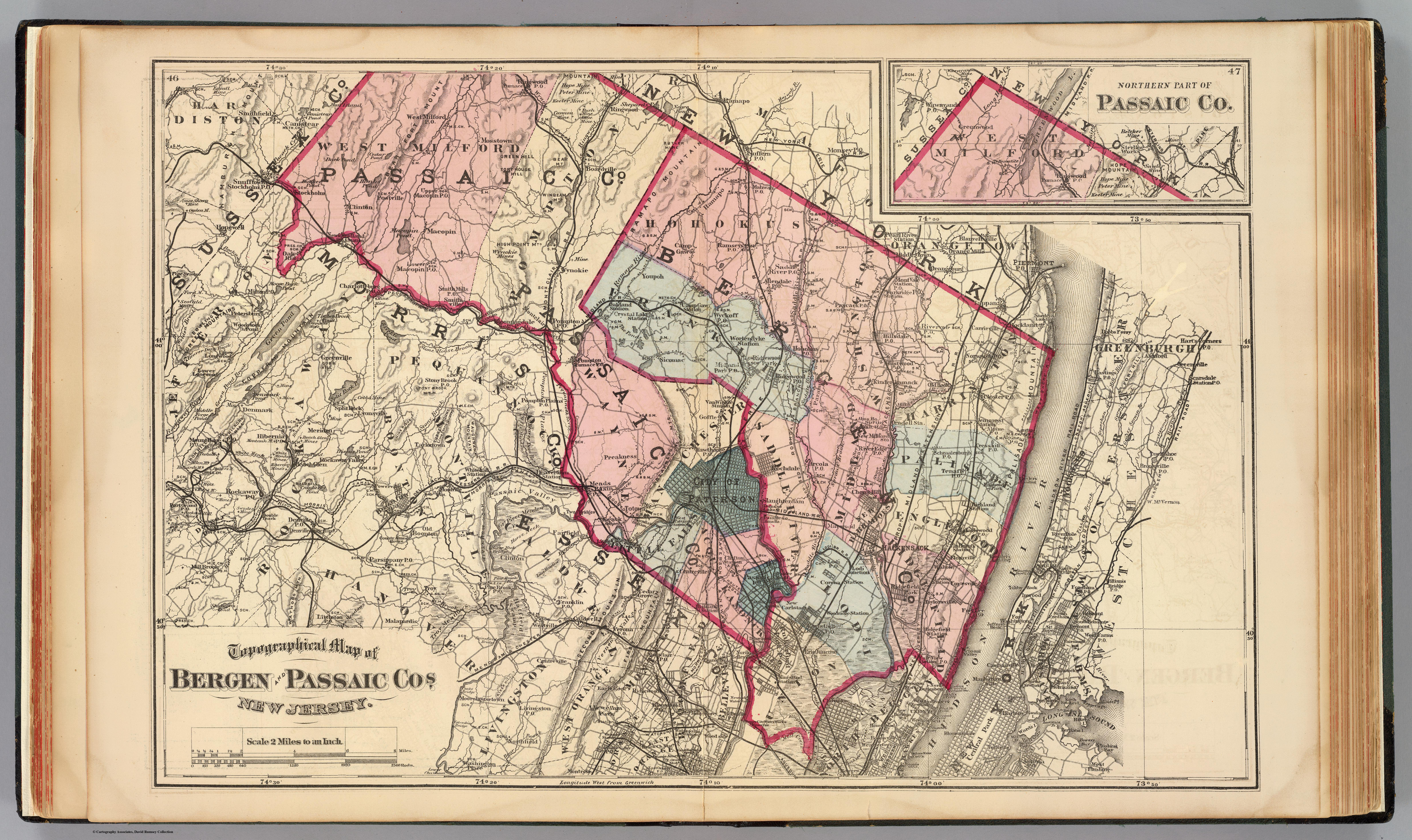 1872 Frederick Beers Map of Bergen County